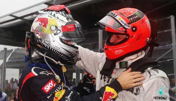 Schumacher y Vettel Interlagos 2012