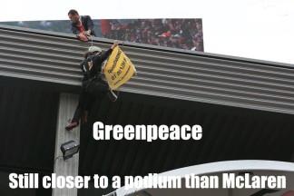 Greenpeace still closer to a podium than McLaren