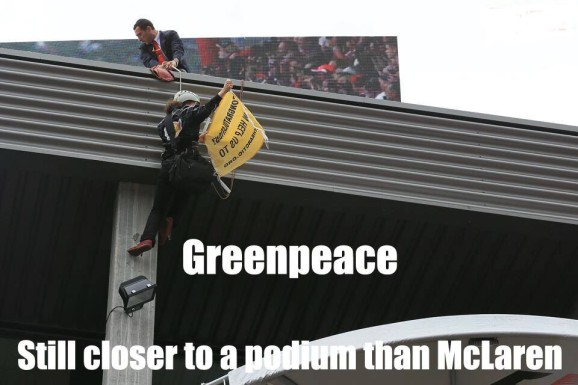 Greenpeace still closer to a podium than McLaren
