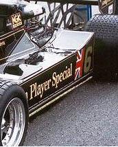 Detalle de las escobillas del Lotus 78 de 1977.