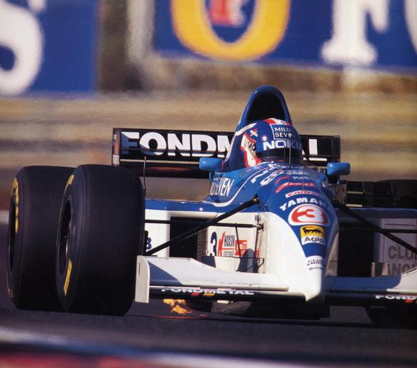 """Ukyo Katayama con el dorsal """"3"""" en el GP Portugal 1995"""