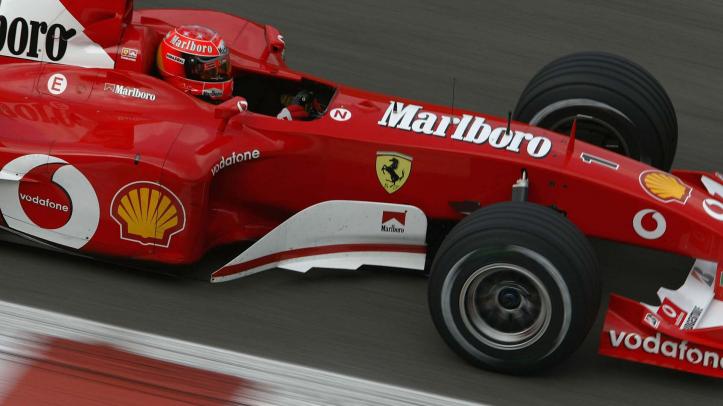 """Michael Schumacher, el más ganador con el """"1""""."""