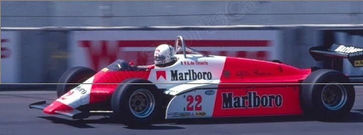 """Andrea de Cesaris, quien más veces utilizó el """"22"""""""