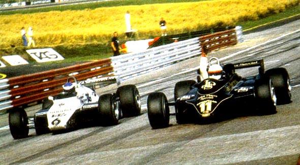 """Elio de Angelis, quien utilizó más veces el """"11"""", en su victoria en el GP de Austria 82"""