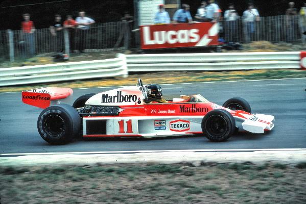 """James Hunt, campeón con el """"11"""" en 1976"""