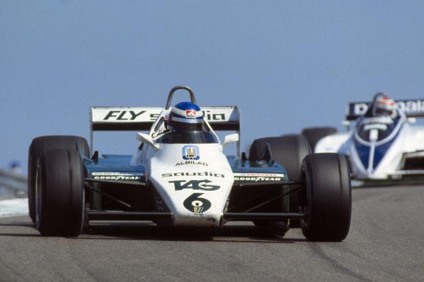 """El padre de Nico, Keke Rosberg y su """"6"""", Campeones Mundiales 1982."""
