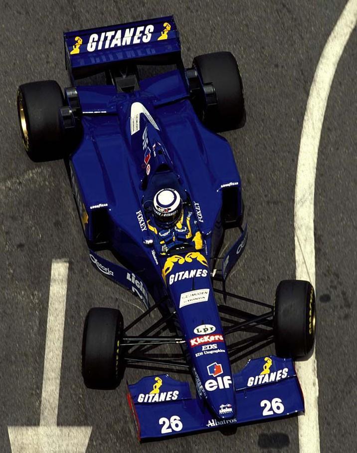 """Olivier Panis y el """"26"""" en su última aparición en 1995"""