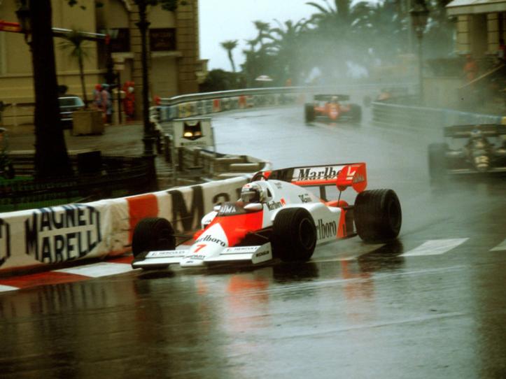 """El Profesor en Mónaco 1984 con el """"7"""""""