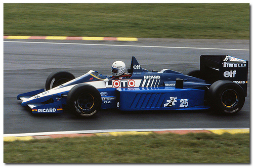 """Rene Arnoux, el que más veces uso el """"25"""""""