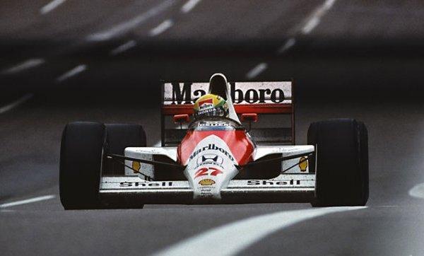 """Un gran campeón con el """"27"""", Ayrton Senna"""