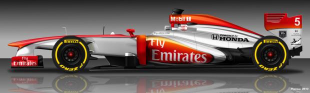 McLaren Honda 2015 Fly Emirates