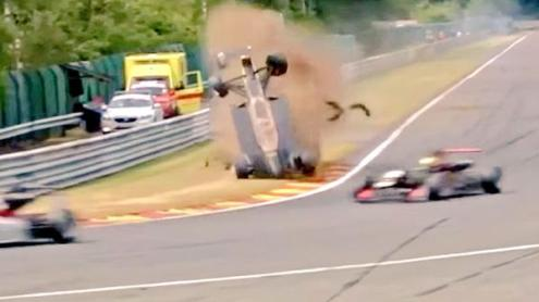 F3 Crash Spa 2015 carnage