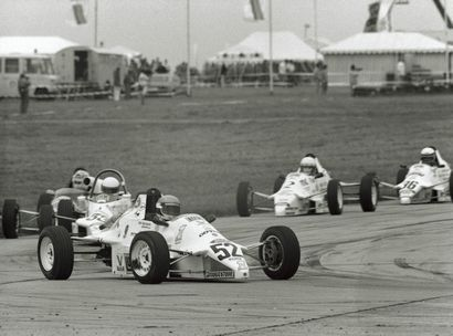 Formula Ford, Mainz-Finthen, 1988. Michael Schumaker #52 begins his climb to becoming a 3-time F1 world champion driving the FF1600 series. CD#motorsport7-7.