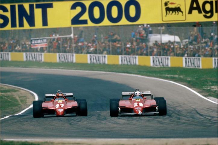 Gilles Villeneuve (CAN) & Didier Pironi (FRA) imola 1982